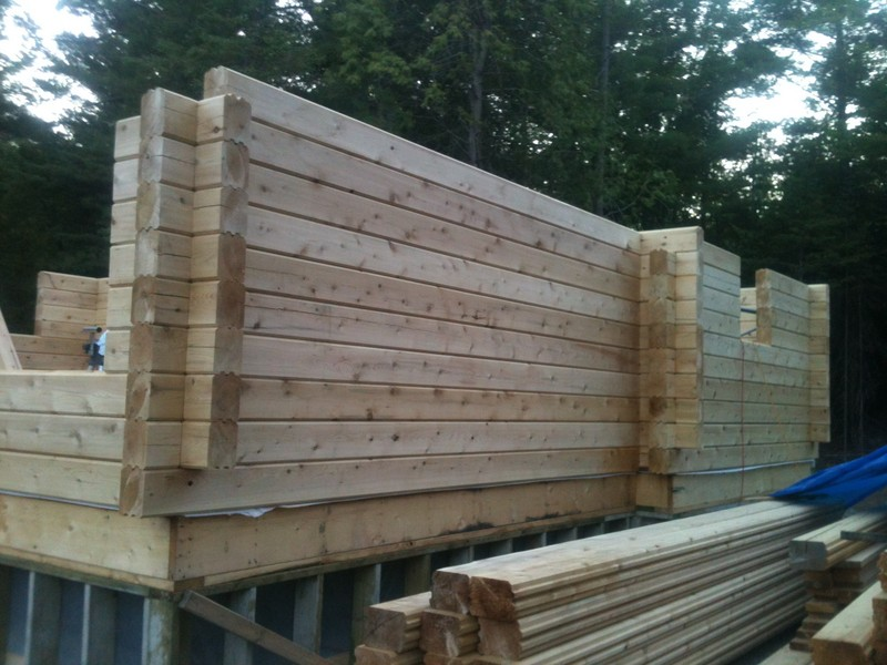 <b>6x8 tongue and groove cabin </b><br />under construction, goes up quickly