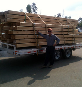 6 X 8 Timber (Double tongue and groove) for Cabins We deliver
